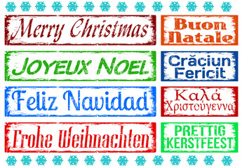 Merry Christmas stamps set