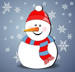snowman - Christmas card
