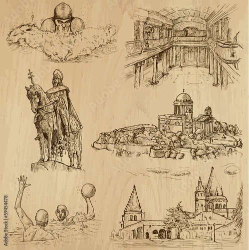 Traveling series: HUNGARY (set no.3) - vector collection