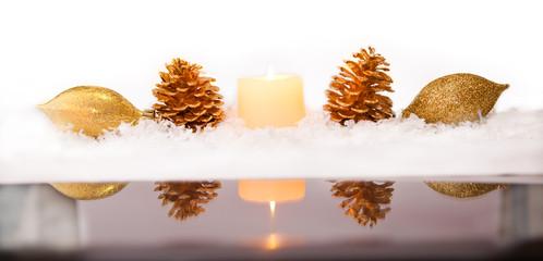 Christmas Border with Reflection