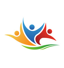 Vector Logo Three People