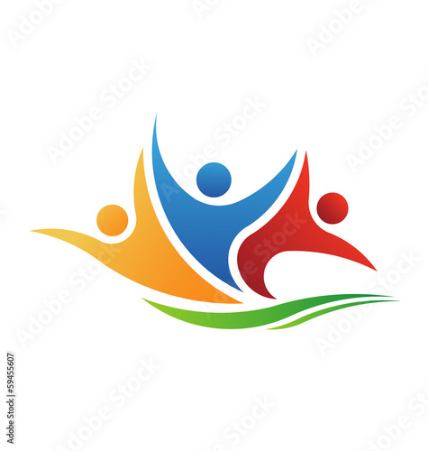 Vector Logo Three People