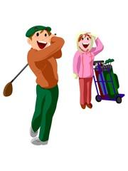 ゴルフ キャディーさん