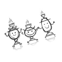 Funny samovar sketch for your design