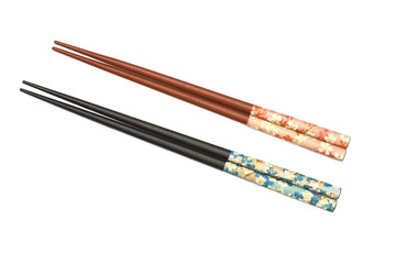 Two Pairs of Chopsticks isolated on white
