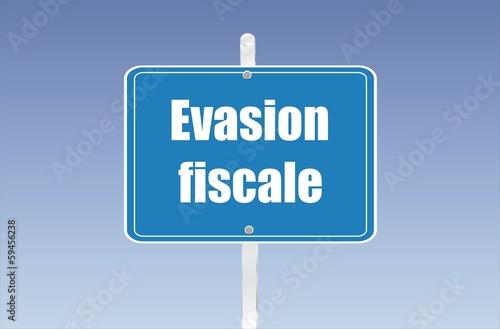 panneau évasion fiscale