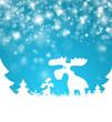 Weihnachten Glitzer Rentiere