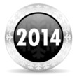 new years 2014 christmas icon