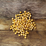 Chickpeas wood background photo vegetarian food