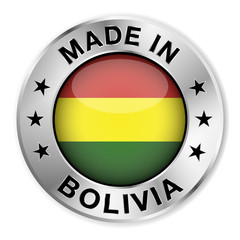 Made In Bolivia Silver Badge