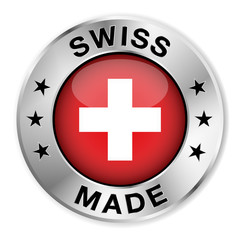 Swiss Made Silver Badge