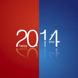 White 2014 red blue background vector