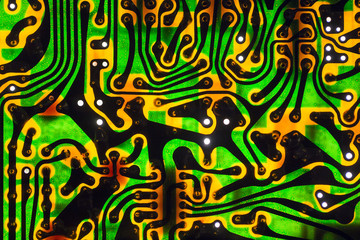 Old PCB board - green