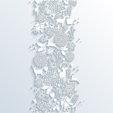 White Christmas season 3d banner seamless pattern