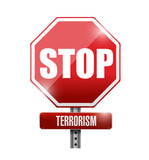 stop terrorism sign illustration design
