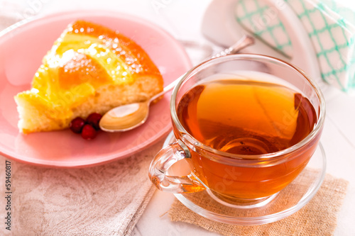 Tea and piece pie