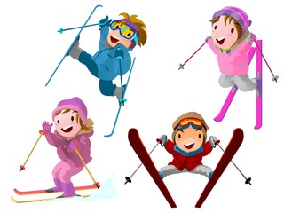 スキーヤー達