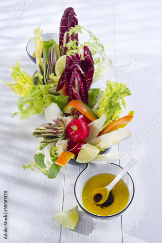 Vinaigrette with mixed vegetables
