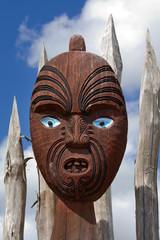 New Zealand traditional maori mask