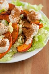 Kürbis Salat mit Tahini