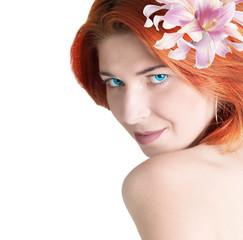 Beautiful Woman.Spa.Fresh Skin.Body Care