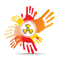 mamy hand and nuclear sign