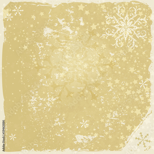 Grungy christmas frame with snowflakes
