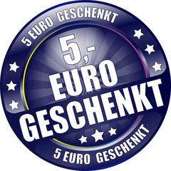 Bügel Button dunkel blau 5 Euro geschenkt