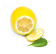 lemon lime on white background