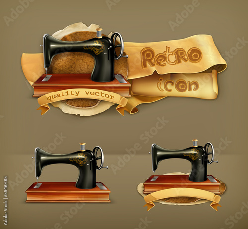 Sewing machine, vector icon
