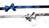 Fototapety Color gift satin ribbon bows, isolated on white