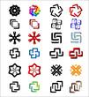 Набор простых логотипов