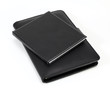 Two Black note book on white background