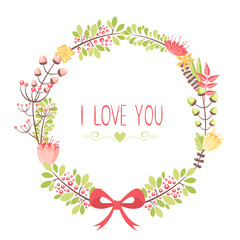 Elegant floral congratulation card