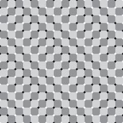 Waving Squares, Optical Illusion, Vector Seamless Pattern