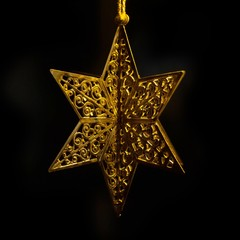 Weihnachtsdekoration Stern / Star Christmas decoration