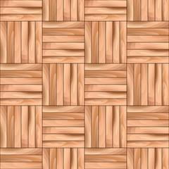 Oak Cubical Parquet Wooden Vector Seamless Pattern Background.