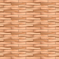 Oak Parquet Wooden Vector Seamless Pattern Background.