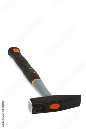 Modern hammer isolated on white.