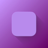 Violet Abstract App Icon Blank Template