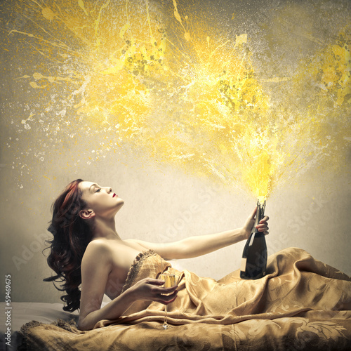 Exploding Champagne