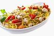 spaghetti con seppioline e pomodori