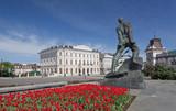 Kazan, monument to Musa Dzhalil near the Kremlin. poster