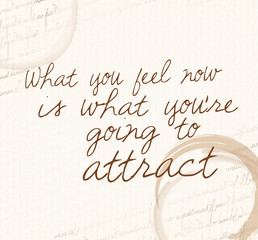 Positive affirmation of law of attraction