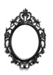 Isolated black Victorian classical mirror frame - 59473657
