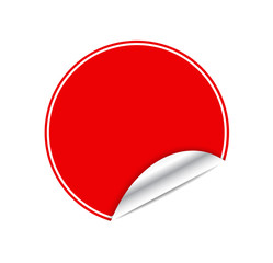 Red sticker
