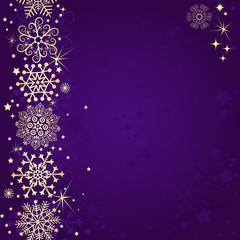 Violet christmas frame