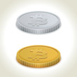 Bitcoin gold and silver coins