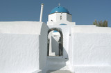 Church in Oia on Santorini island in Greece.
