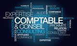 Fototapety Expertise comptable conseil expert consulting nuage de mots